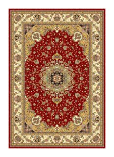 Lyndhurst Collection Red/ivory Oriental Rug (8 X 11) (RedPattern OrientalMeasures 0.375 inch thickTip We recommend the use of a non skid pad to keep the rug in place on smooth surfaces.All rug sizes are approximate. Due to the difference of monitor colo