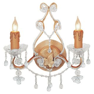 Crystorama 4522 CM CLEAR Paris Flea Market Wall Sconce   12W in.   Champagne