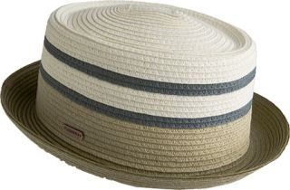 Womens Kangol Stripe Braid Pork Pie   Putty Hats