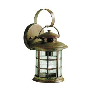 Kichler 9760RST Outdoor Light, Transitional Wall 1 Light Fixture Rustic