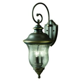 Kichler 9492OZ Outdoor Light, Classic (Formal Traditional) Wall 3 Light Fixture Olde Bronze