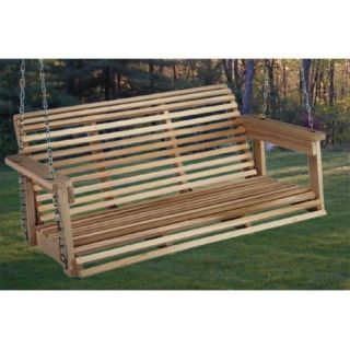 Beecham Swing Co. Rolled Back 4 ft. Wood Porch Swing Multicolor   66662
