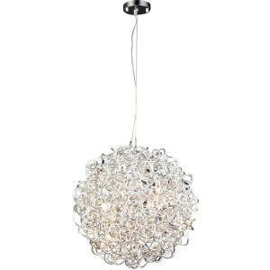 PLC Lighting PLC 81757 AL Fireball II 6 Light Pendant Fireball II Collection