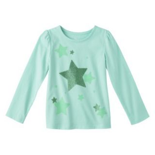 Circo Infant Toddler Girls Long sleeve Graphic Tee   Sea Foam 2T