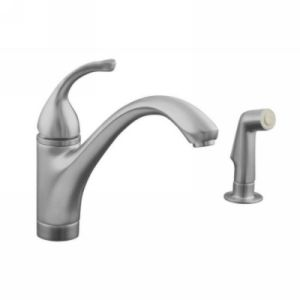 Kohler K 10416 G Forte Single Handle Kitchen Faucet with Sidespray