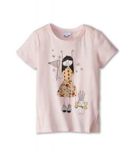 Little Marc Jacobs Ms Marc And Dog Print S/S Tee Girls T Shirt (Pink)