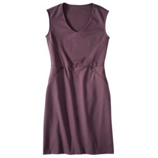 Mossimo Womens Ponte Sleeveless Dress w/ Zippered Pockets   Berry Lacquer S