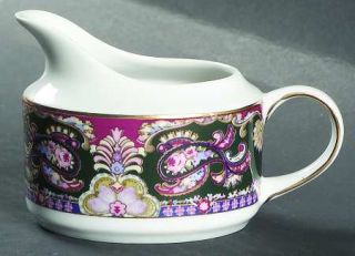 Muirfield Royal Paisley Creamer, Fine China Dinnerware   Multicolor Border