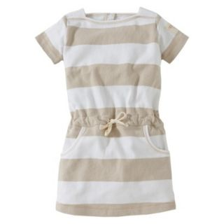Burts Bees Baby Toddler Girls Boatneck Dress   Oyster Grey 2T