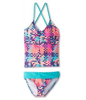 Roxy Kids Peaceful Dreamer Crisscross Tankini Set Girls Swimwear Sets (Multi)