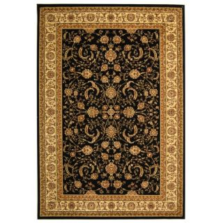 Lyndhurst Collection Black/ Ivory Rug (4 X 6)