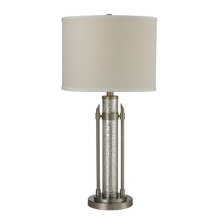 1 light Mercury Glass/ Metal Table Lamp