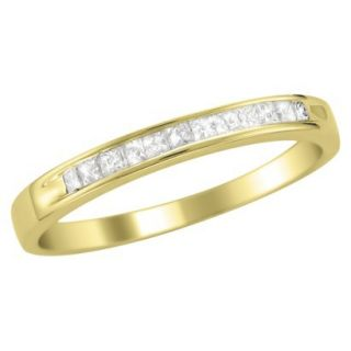 1/4 CT.T.W. Ring Band 14K Yellow Gold   Size 5.5