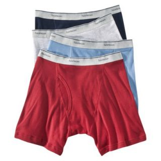 Fruit of the Loom Mens Boxer Briefs 4 Pack   Assorted Colors XL