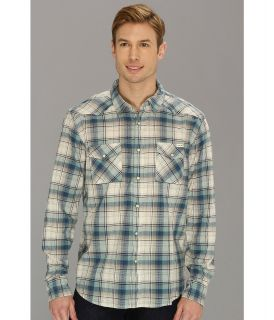 Lucky Brand Ambassador Plaid Western Mens Long Sleeve Button Up (Multi)