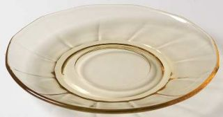 Fostoria Fairfax Topaz Saucer Only   2375, Yellow