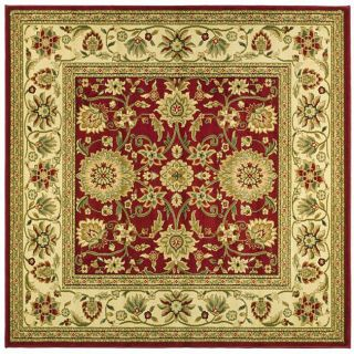 Lyndhurst Collection Majestic Red/ Ivory Rug (8 Square)