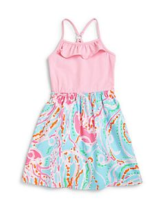 Lilly Pulitzer Kids Girls Dory Dress   Spa Blue