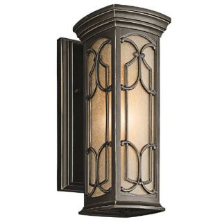 Kichler 49226OZ Outdoor Light, Classic (Formal Traditional) Wall Lantern 1 Light Fixture Olde Bronze