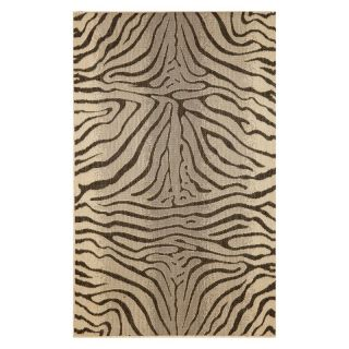 Trans Ocean Import Co Terrace Zebra Indoor / Outdoor Rugs+D16 Charcoal