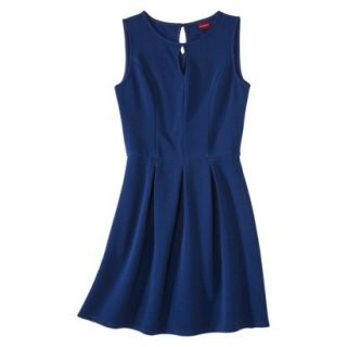 Merona Womens Textured Sleeveless Keyhole Neck Dress   Waterloo Blue   XXL