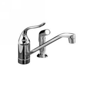 Kohler K 15176 F BN Coralais Single Handle Kitchen Faucet with Sidespray