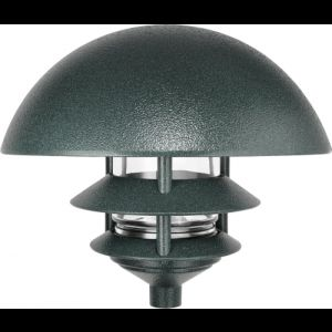 RAB Lighting LLD3VG/FS13 120V 10 3Tier Self Ballasted Dome Top Path Light, 13W Verde Green