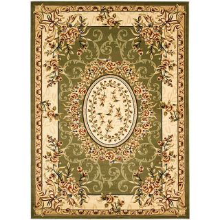 Lyndhurst Collection Aubussons Sage/ Ivory Rug (8 X 11)