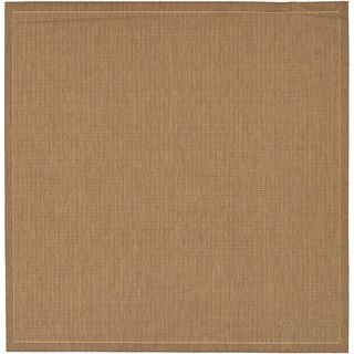 Recife Saddle Stitch Cocoa Rug (86 Square) (BrownSecondary colors Natural beigePattern StripeTip We recommend the use of a non skid pad to keep the rug in place on smooth surfaces.All rug sizes are approximate. Due to the difference of monitor colors,