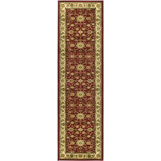 Lyndhurst Collection Majestic Red/ Ivory Runner (23 X 14)