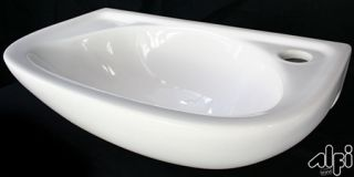 Alfi Brand AB102 Bathroom Sink, Small Wall Mounted Porcelain Basin White