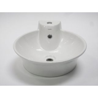 Alfi Trade Inc Eago Round Above Mount Ceramic Bathroom Sink with Single Faucet