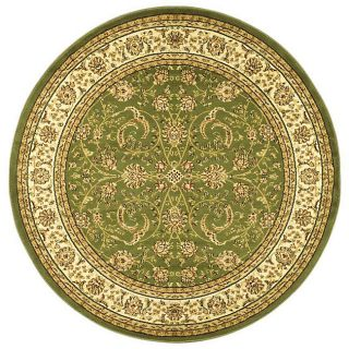 Lyndhurst Collection Sage/ Ivory Rug (53 Round)