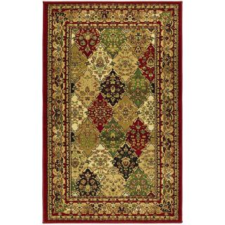 Lyndhurst Collection Multicolor/ Red Rug (33 X 53)