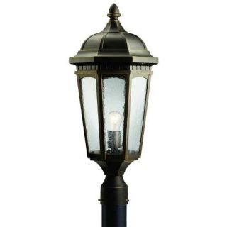Kichler 9532RZ Outdoor Light, Classic (Formal Traditional) Post Mount 1 Light Fixture Rubbed Bronze