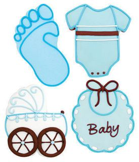 Boy Baby Shower Decorated Cookies