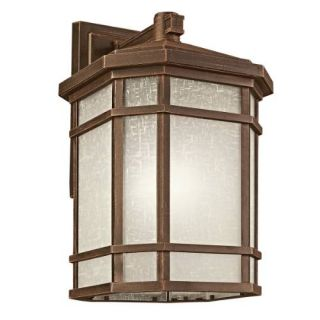 Kichler 9721PR Outdoor Light, Transitional Wall Mount 1 Light Fixture Prairie Rock