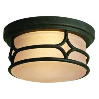 Kichler 9867AGZ Outdoor Light, Arts and Crafts/Mission Flush Mount 2 Light Fixture Aged Bronze