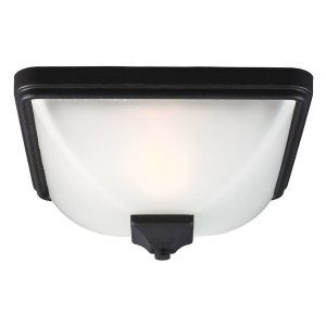 Sea Gull Lighting SEA 7828401 12 Irving Park One Light Outdoor Ceiling Flush Mou