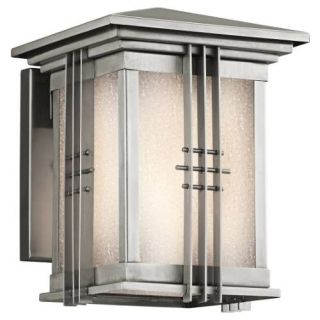 Kichler 49157SS Outdoor Light, Arts and Crafts/Mission Wall Mount 1 Light Fixture Stainless Steel