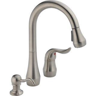 Delta P188102LFSSSD Kitchen Faucet, Peerless Single Handle PullOut, LeadFree Stainless Steel