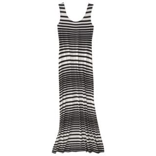 Merona Petites Sleeveless Maxi Dress   Black/Cream SP