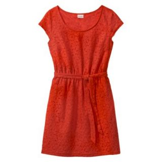 Merona Womens Lace Sheath Dress   Orange Zing   XXL