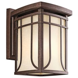 Kichler 49148AGZ Outdoor Light, Arts and Crafts/Mission Wall 1 Light Fixture Aged Bronze