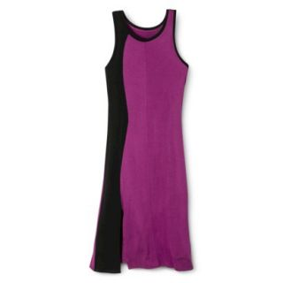 Mossimo Womens Colorblock Midi Dress   Grape/Black XS