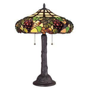 Quoizel TF1558TWT Tiffany Grapevine Tiffany Table Lamp