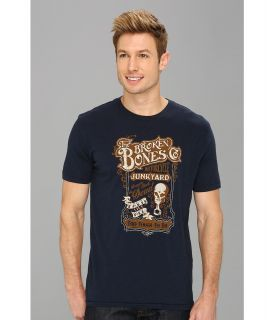 Lucky Brand Broken Bones Tee Mens T Shirt (Navy)