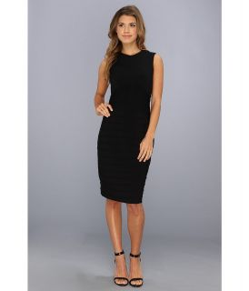 Calvin Klein Ribbed Matte Jersey Dress Womens Dress (Black)