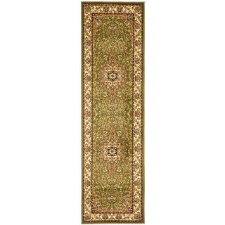 Lyndhurst Collection Sage/ Ivory Indoor/outdoor Runner (23 X 14) (GreenPattern OrientalMeasures 0.375 inch thickTip We recommend the use of a non skid pad to keep the rug in place on smooth surfaces.All rug sizes are approximate. Due to the difference o
