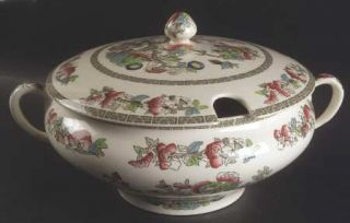 Johnson Brothers Indian Tree (Green Key, Cream) Tureen & Lid, Fine China Dinnerw